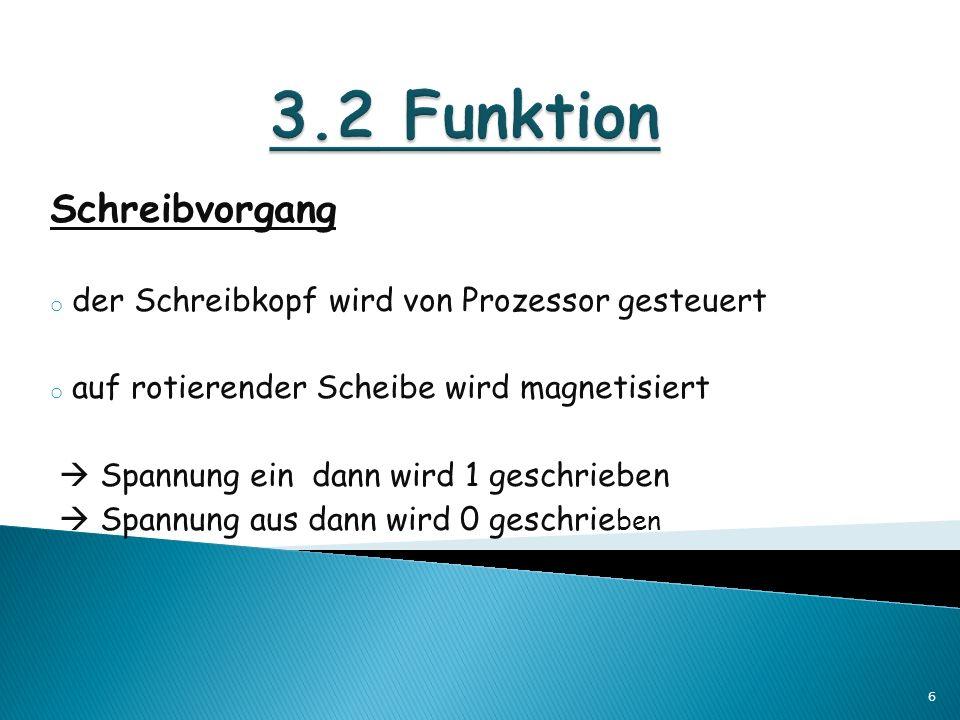 3.2 Funktion Schreibvorgang
