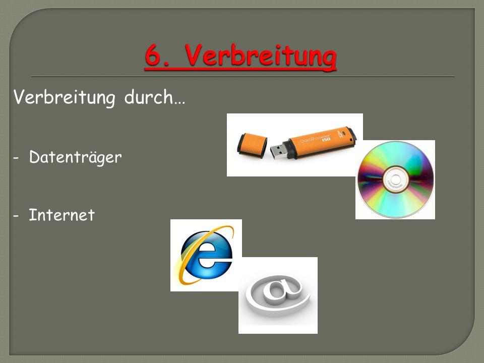 6. Verbreitung Verbreitung durch… - Datenträger - Internet