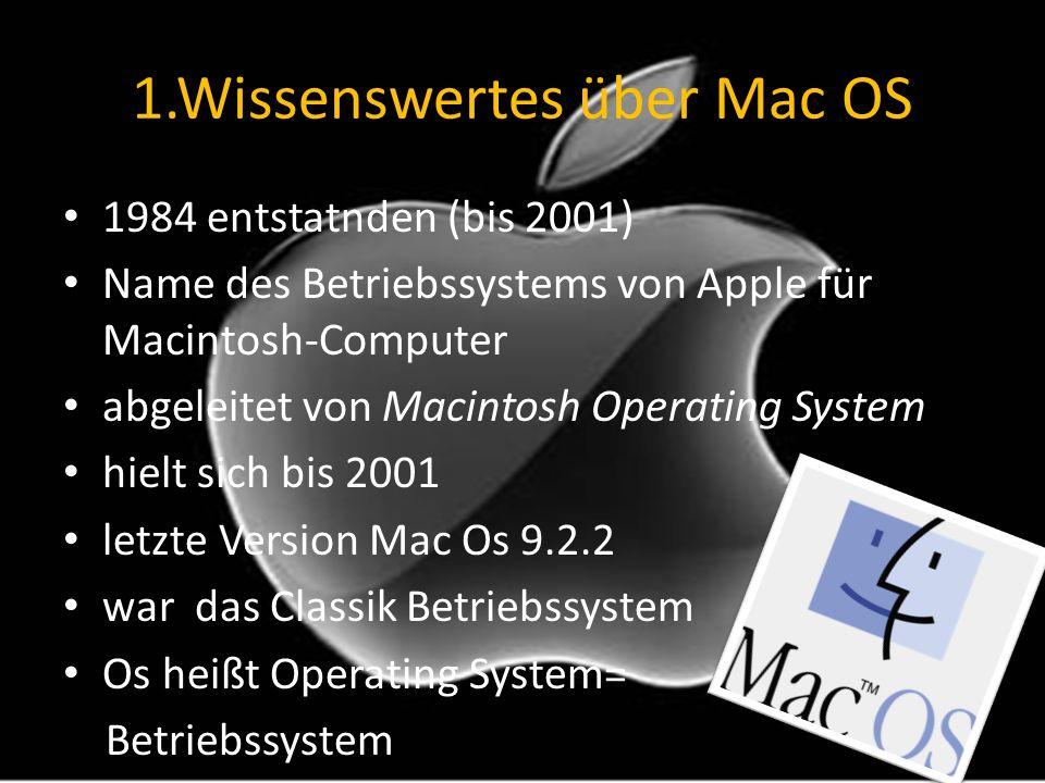 1.Wissenswertes über Mac OS