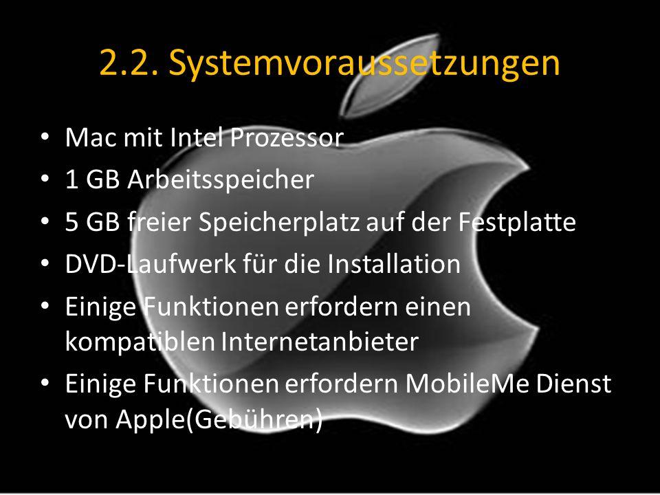 2.2. Systemvoraussetzungen