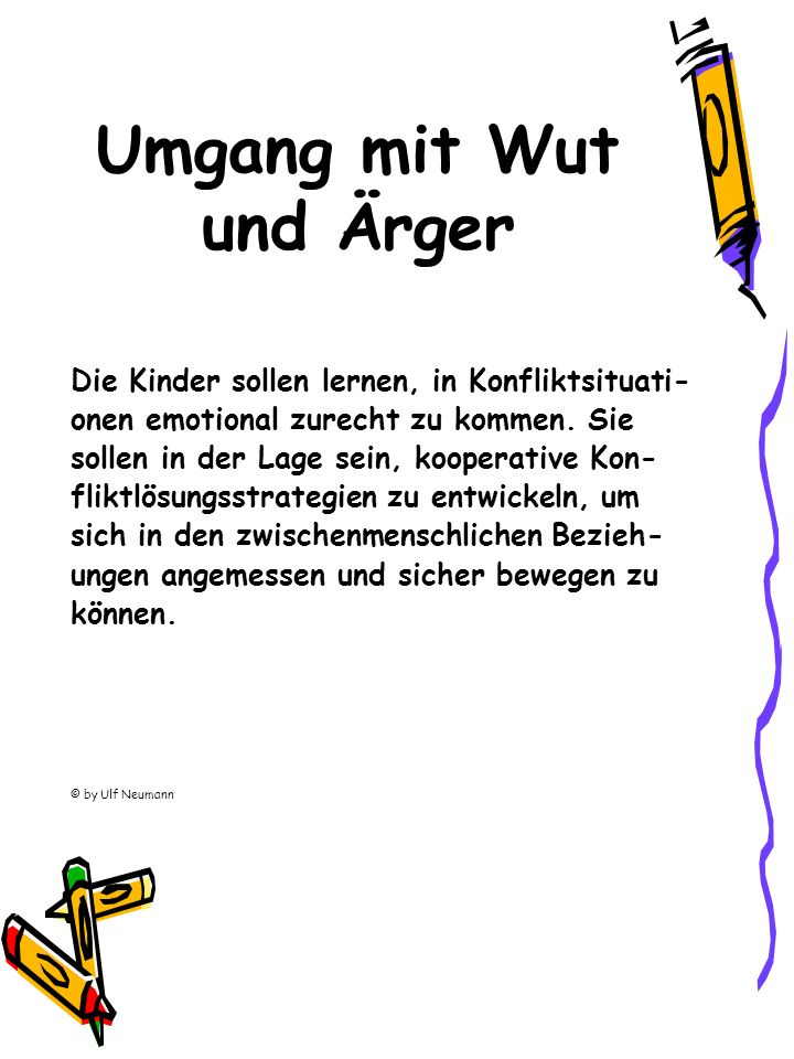 Umgang mit Wut und Ärger
