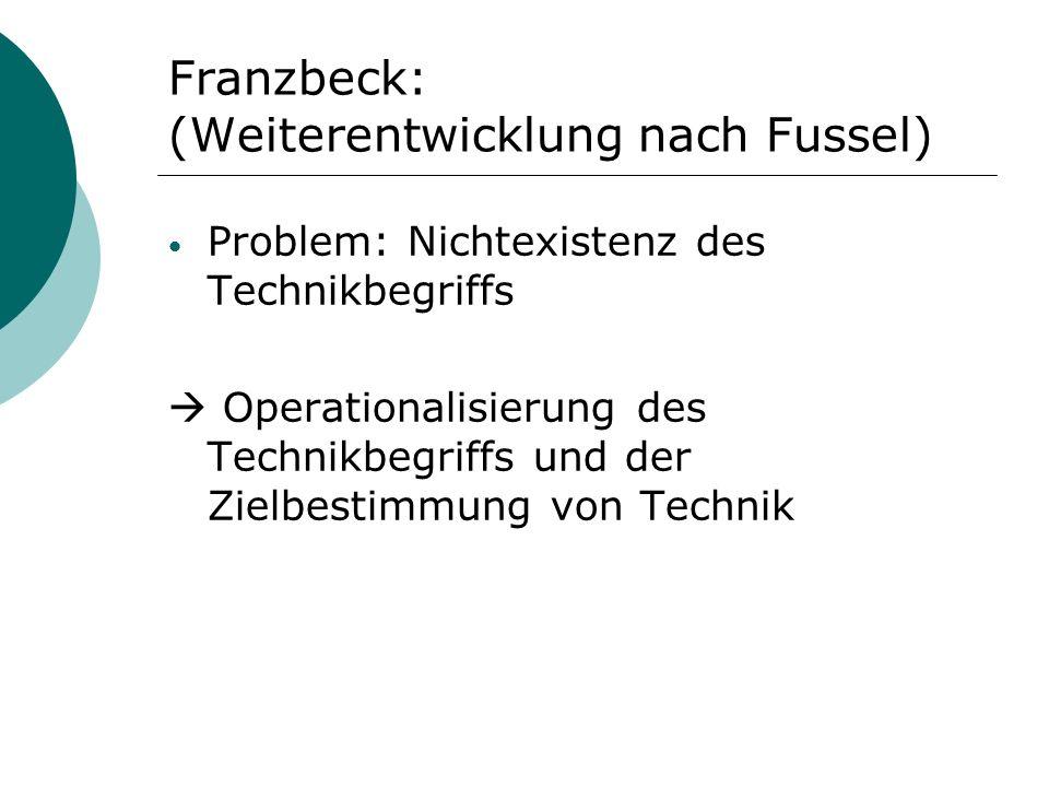 Franzbeck: (Weiterentwicklung nach Fussel)
