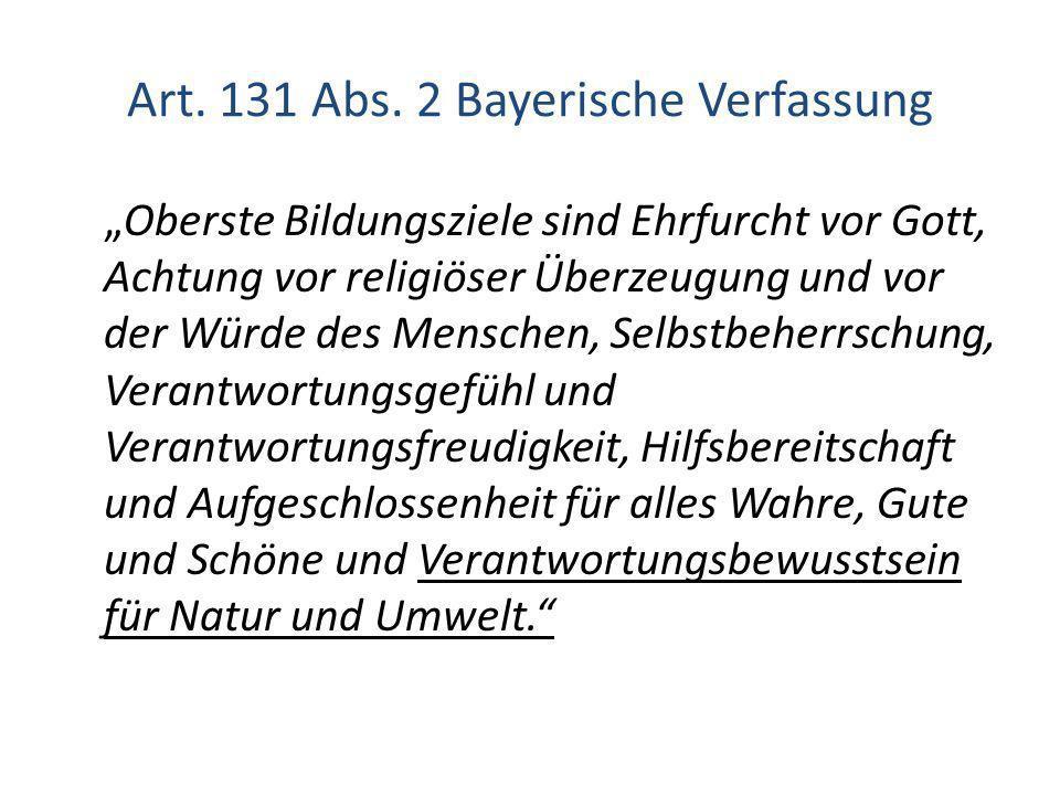Art. 131 Abs. 2 Bayerische Verfassung