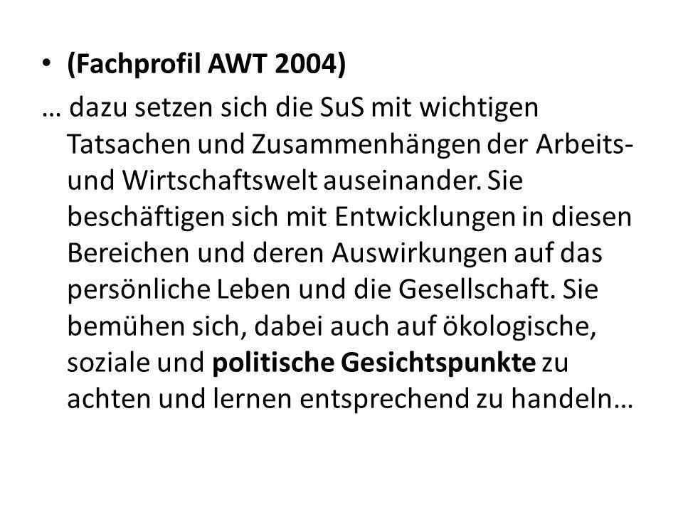 (Fachprofil AWT 2004)