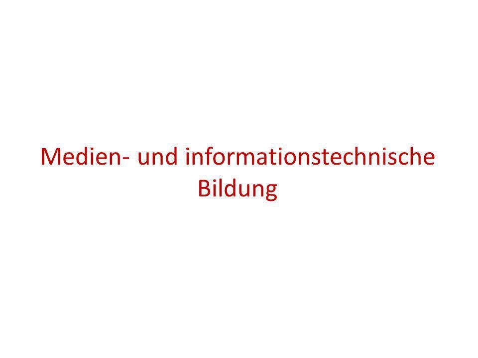 Medien- und informationstechnische Bildung