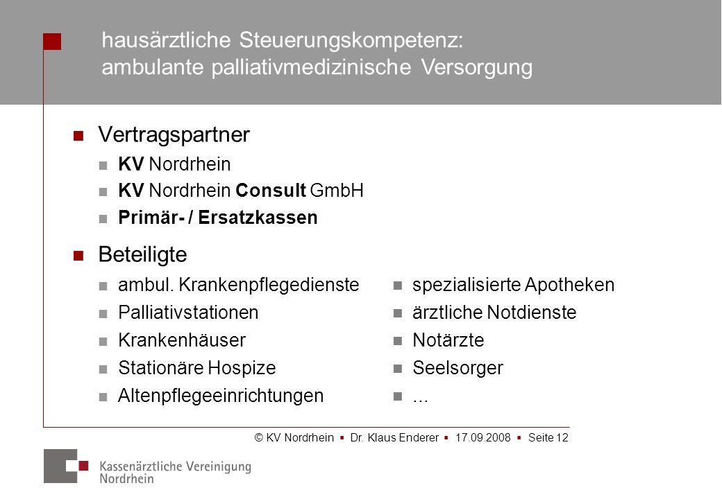hausärztliche Steuerungskompetenz: ambulante palliativmedizinische Versorgung