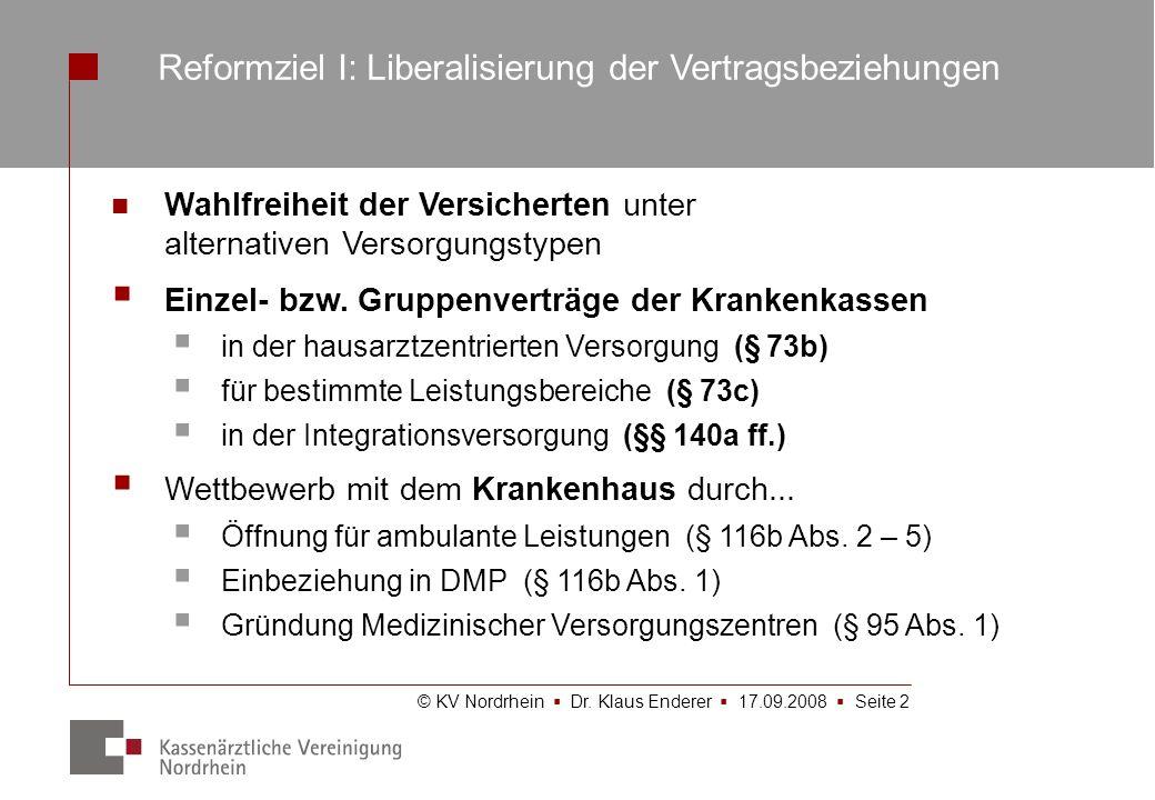 Reformziel I: Liberalisierung der Vertragsbeziehungen