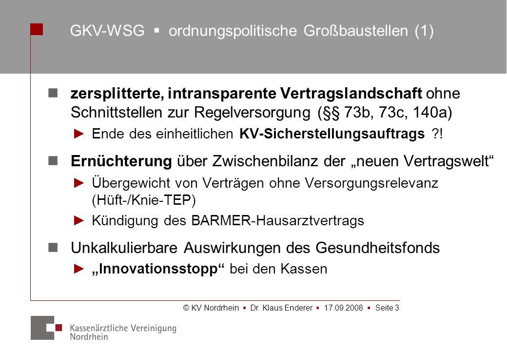 GKV-WSG  ordnungspolitische Großbaustellen (1)
