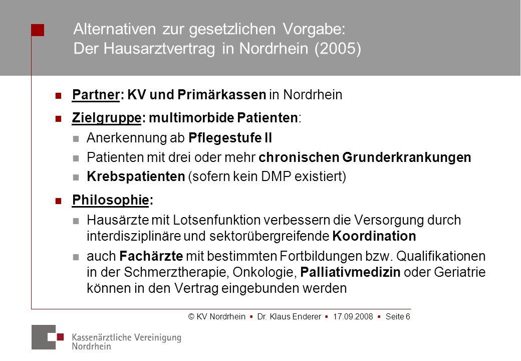 Alternativen zur gesetzlichen Vorgabe: Der Hausarztvertrag in Nordrhein (2005)