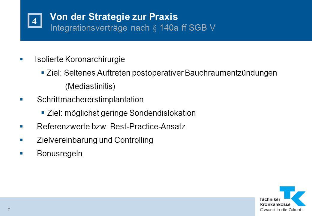 Von der Strategie zur Praxis Integrationsverträge nach § 140a ff SGB V