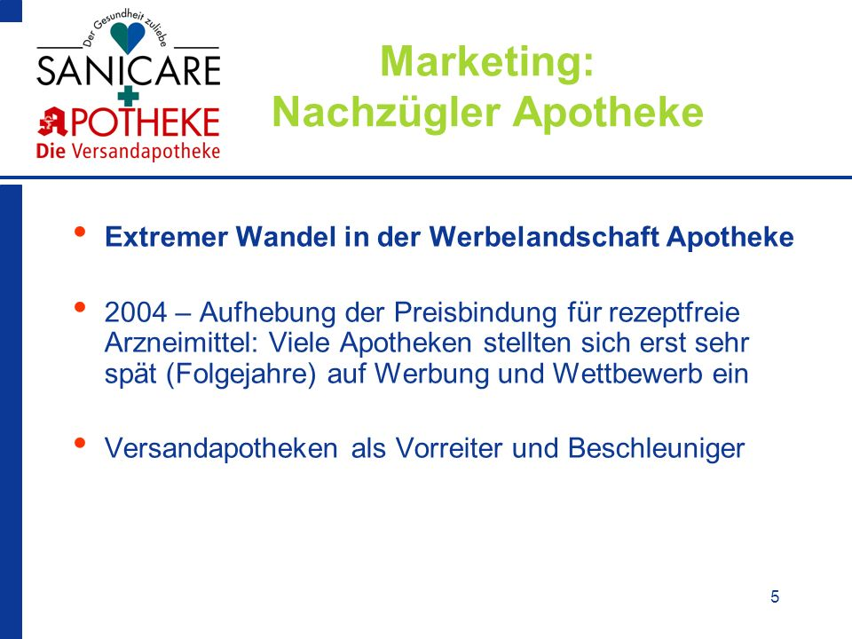 Marketing: Nachzügler Apotheke