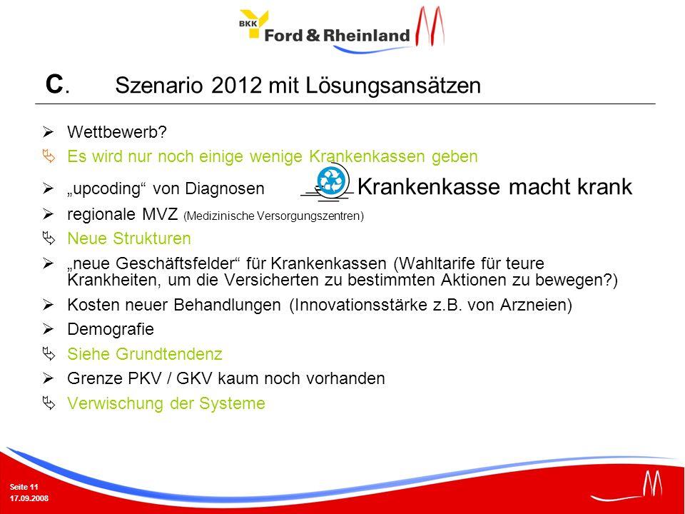 C. Szenario 2012 mit Lösungsansätzen