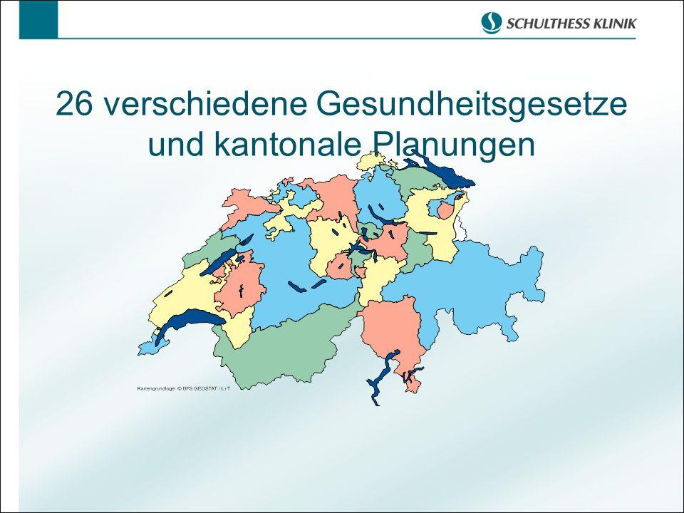 26 verschiedene Gesundheitsgesetze und kantonale Planungen