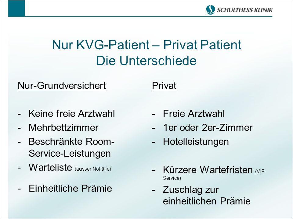 Nur KVG-Patient – Privat Patient Die Unterschiede
