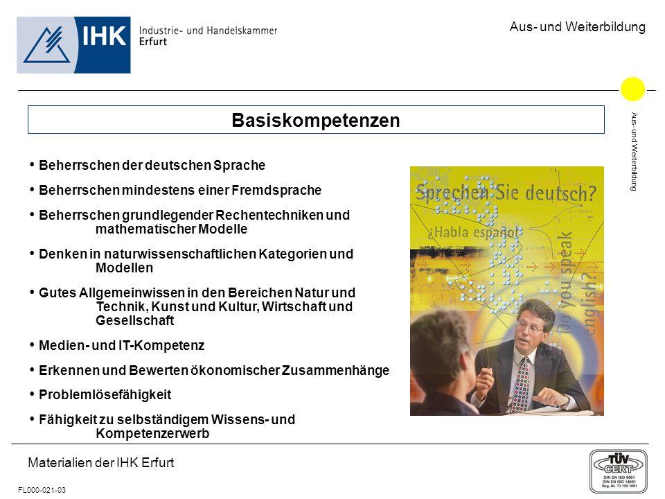 Basiskompetenzen Beherrschen der deutschen Sprache