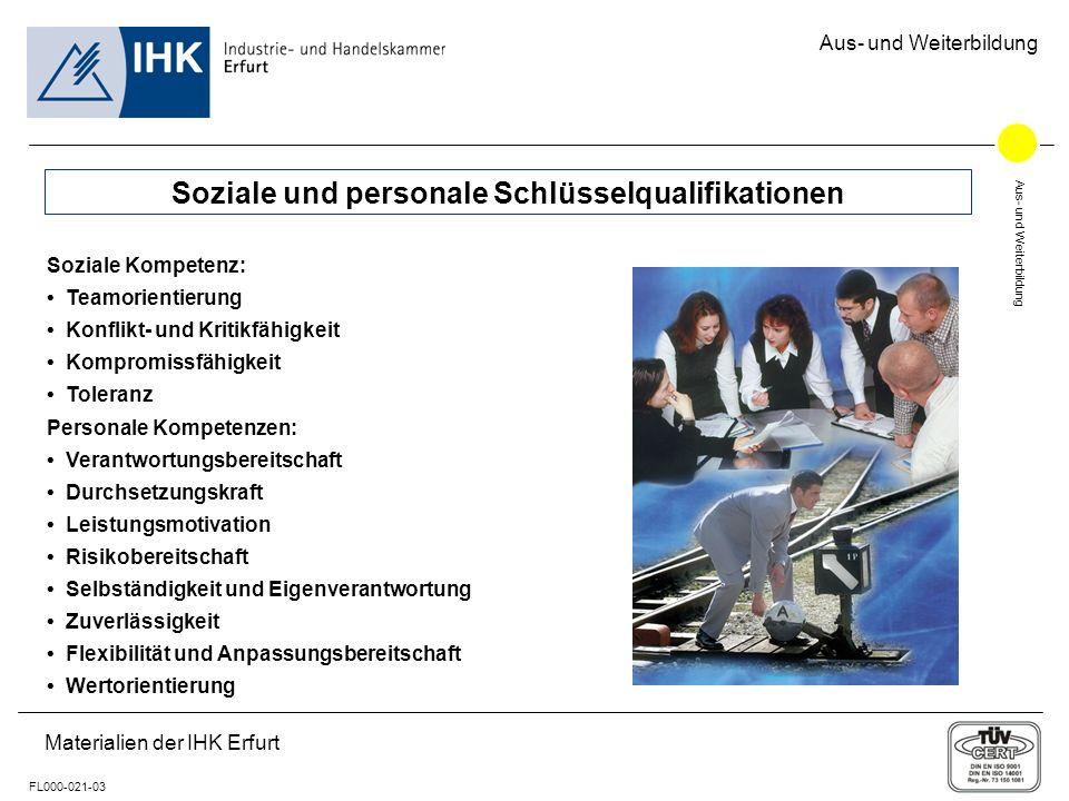 Soziale und personale Schlüsselqualifikationen