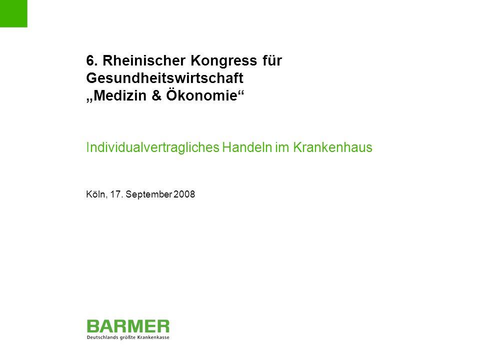 """6. Rheinischer Kongress für Gesundheitswirtschaft """"Medizin & Ökonomie"""