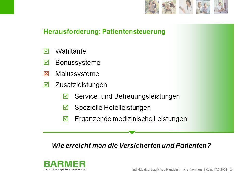 Wie erreicht man die Versicherten und Patienten