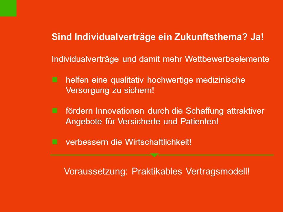Voraussetzung: Praktikables Vertragsmodell!