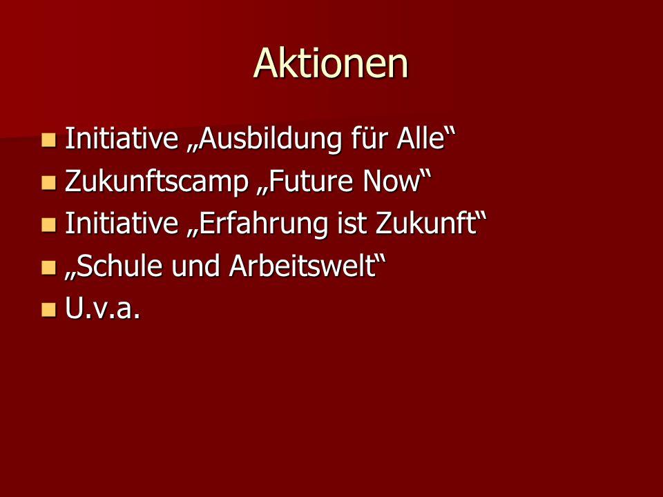 """Aktionen Initiative """"Ausbildung für Alle Zukunftscamp """"Future Now"""