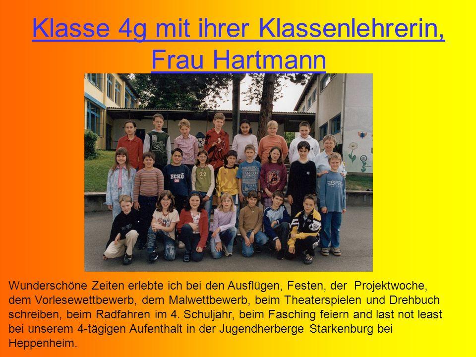 Klasse 4g mit ihrer Klassenlehrerin, Frau Hartmann