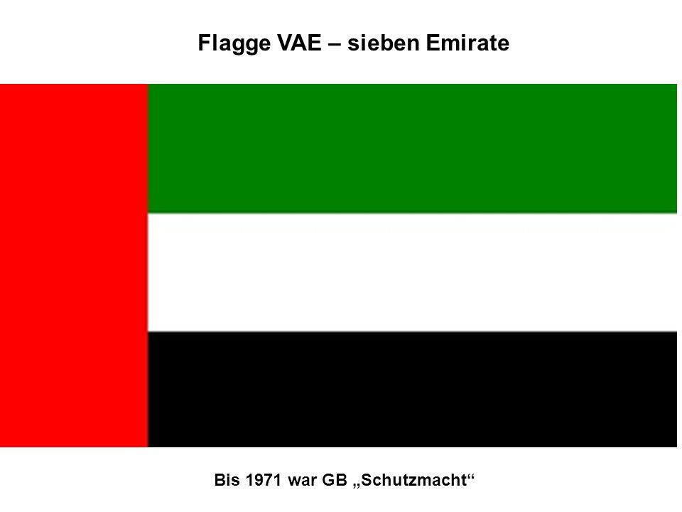 Flagge VAE – sieben Emirate