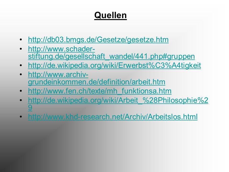 Quellen http://db03.bmgs.de/Gesetze/gesetze.htm