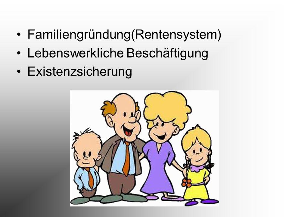 Familiengründung(Rentensystem)