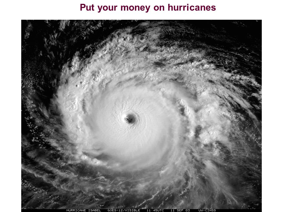 Put your money on hurricanes