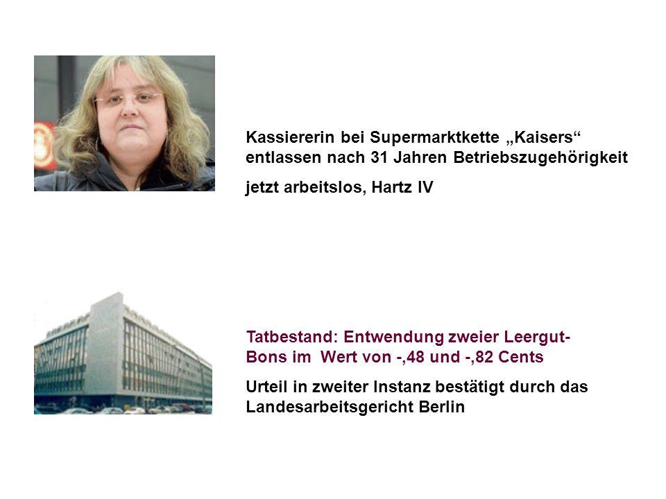 """Kassiererin bei Supermarktkette """"Kaisers entlassen nach 31 Jahren Betriebszugehörigkeit"""