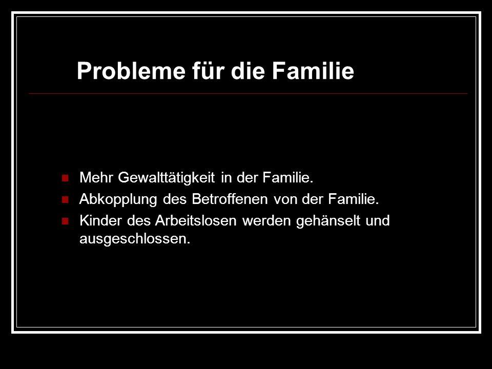 Probleme für die Familie