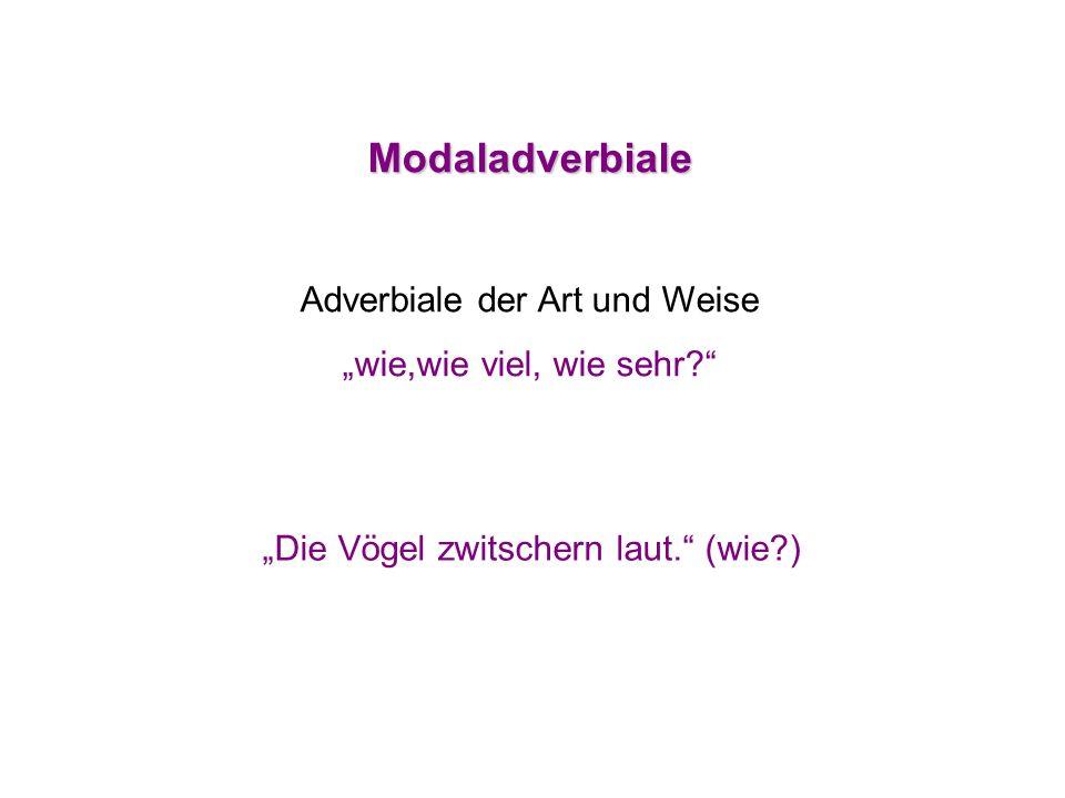 Adverbiale der Art und Weise