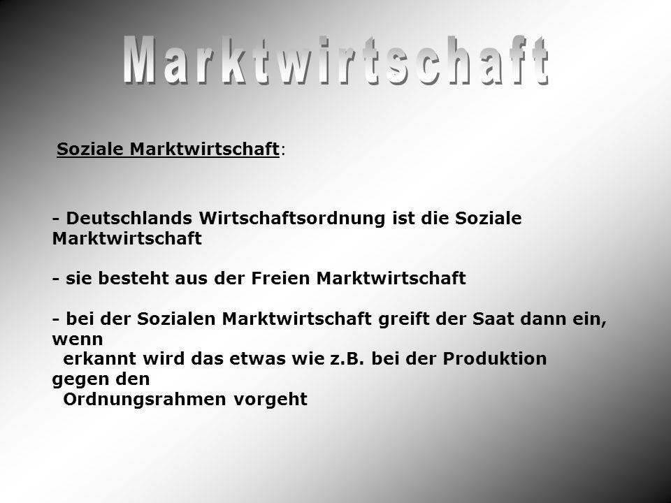Marktwirtschaft Soziale Marktwirtschaft: