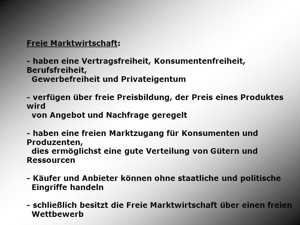 Freie Marktwirtschaft:
