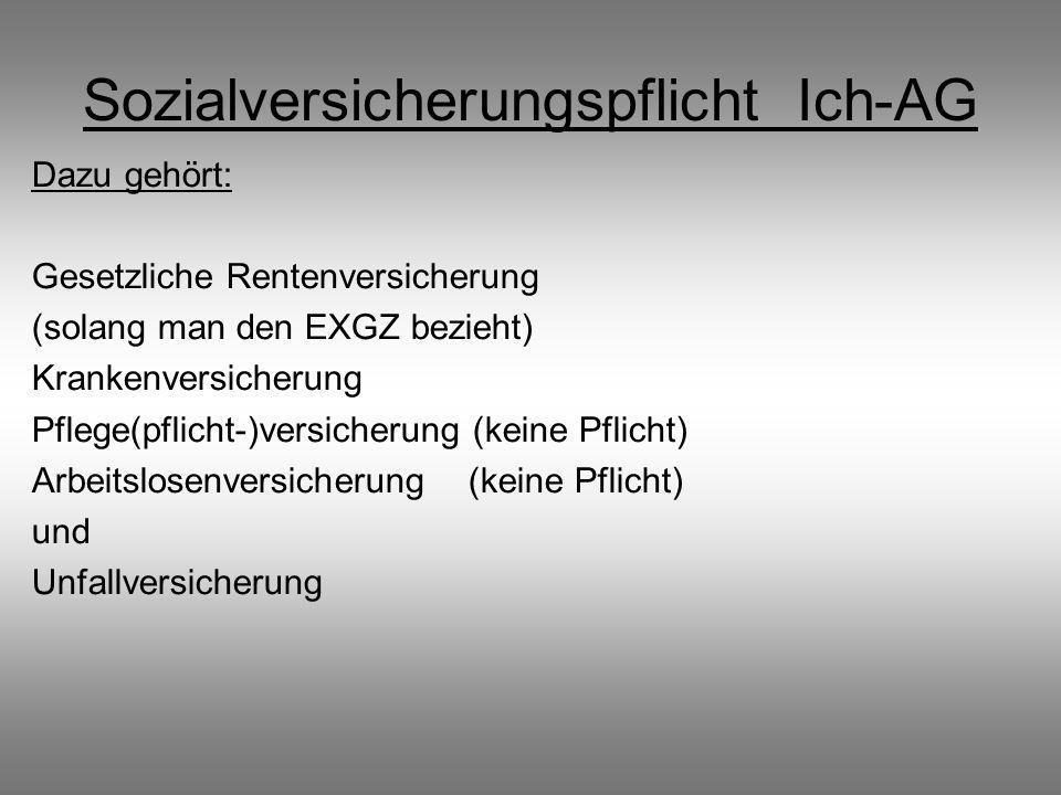 Sozialversicherungspflicht Ich-AG