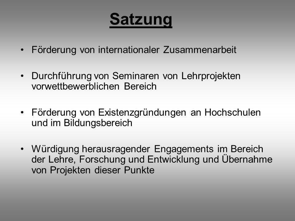 Satzung Förderung von internationaler Zusammenarbeit