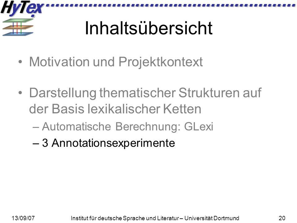 Inhaltsübersicht Motivation und Projektkontext