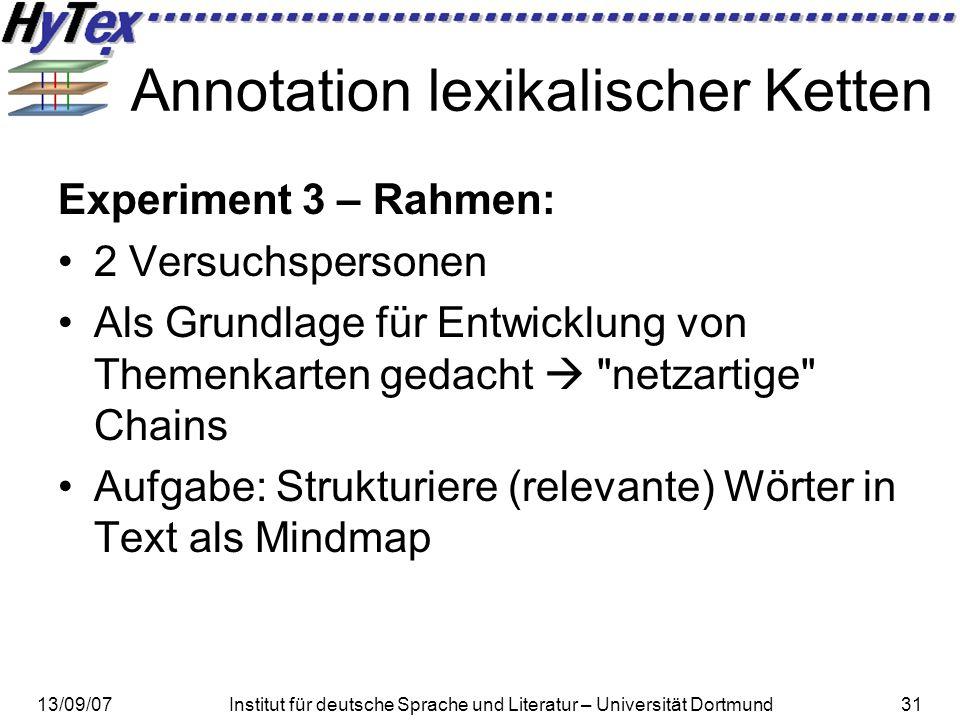 Annotation lexikalischer Ketten