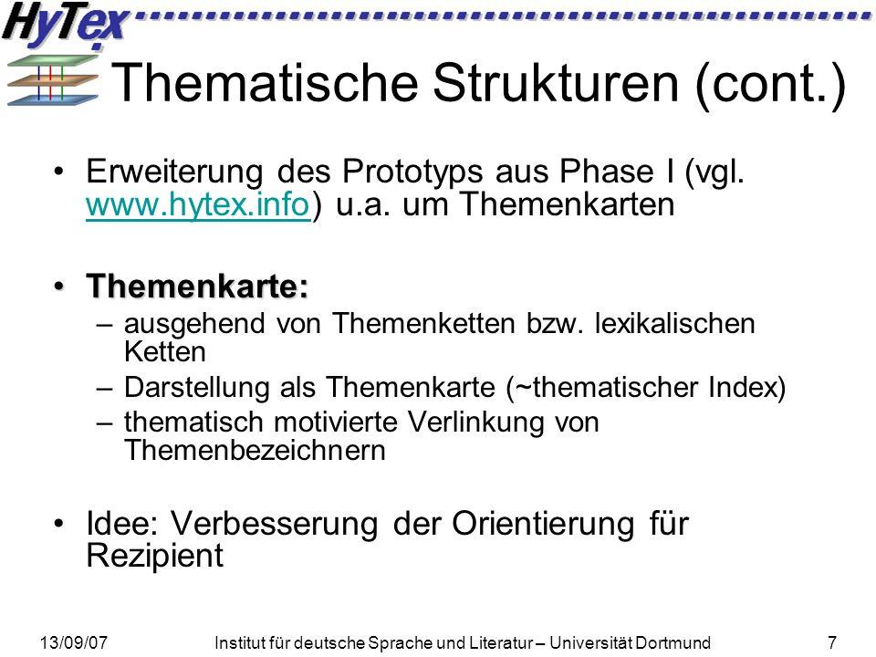 Thematische Strukturen (cont.)