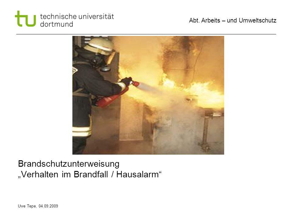 """Brandschutzunterweisung """"Verhalten im Brandfall / Hausalarm"""