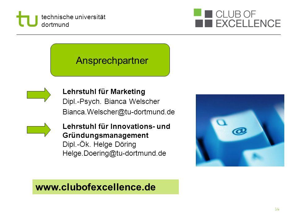 Ansprechpartner www.clubofexcellence.de Lehrstuhl für Marketing