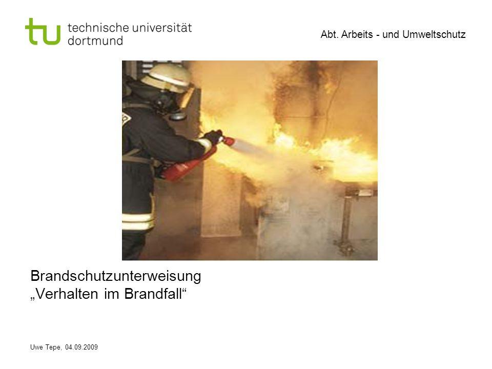 """Brandschutzunterweisung """"Verhalten im Brandfall"""