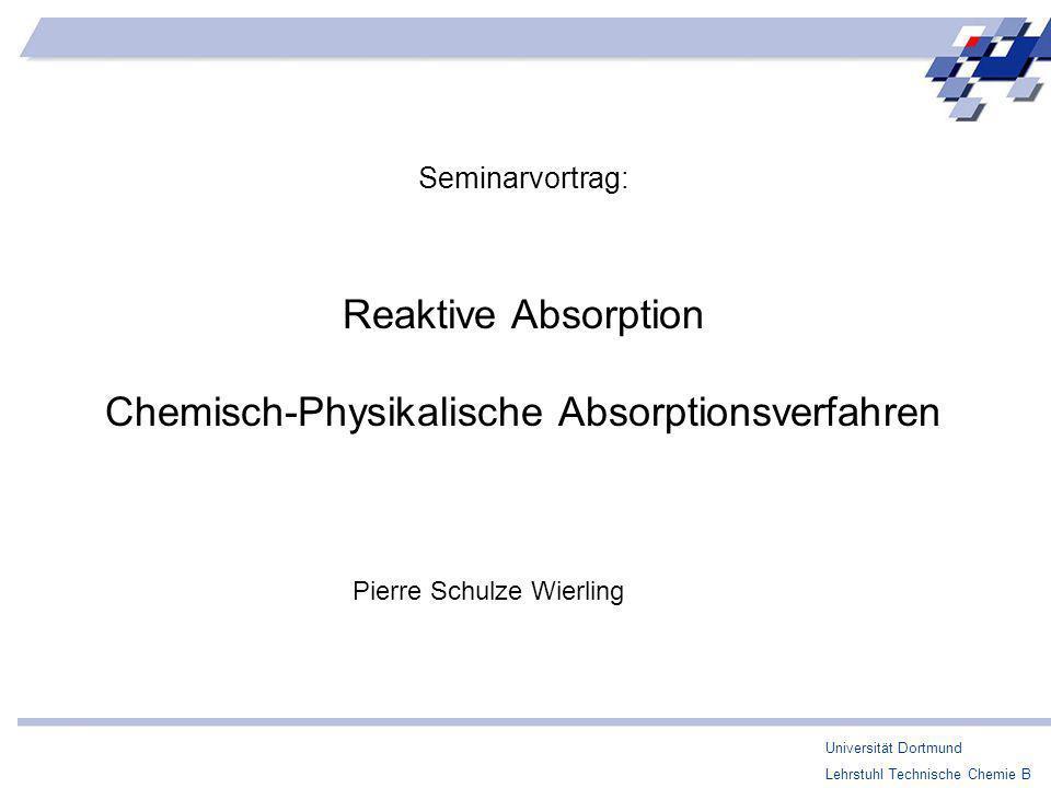 Chemisch-Physikalische Absorptionsverfahren