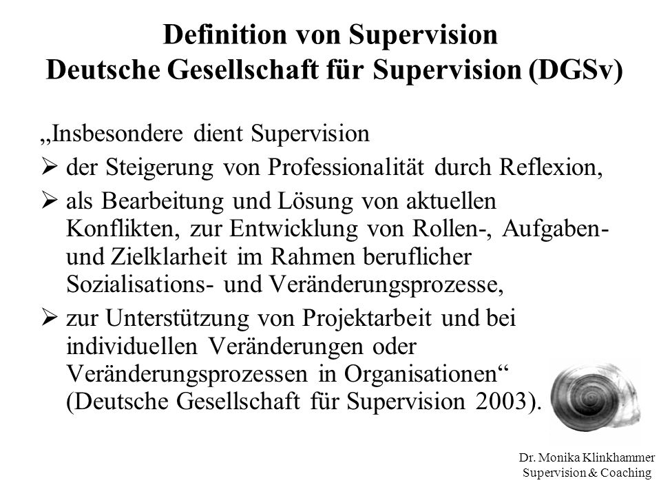 Dr. Monika Klinkhammer Supervision & Coaching
