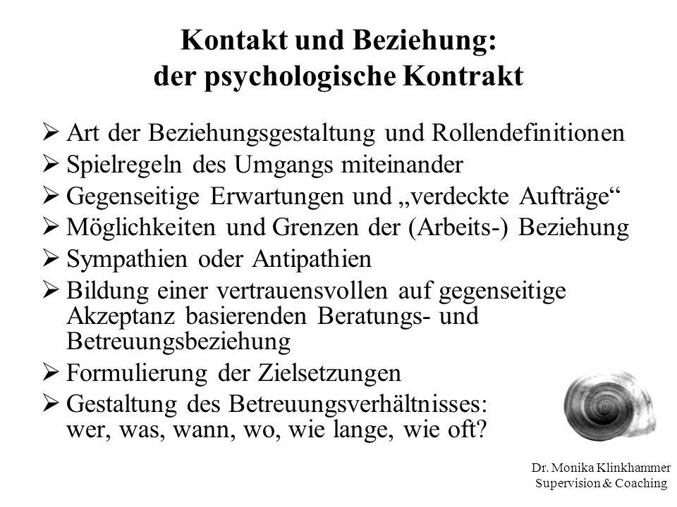 Kontakt und Beziehung: der psychologische Kontrakt