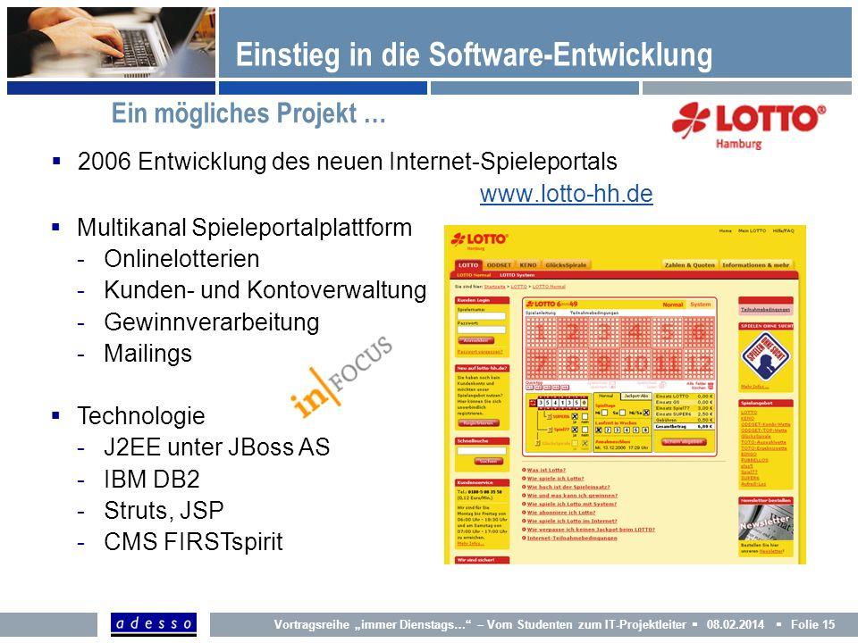 Einstieg in die Software-Entwicklung