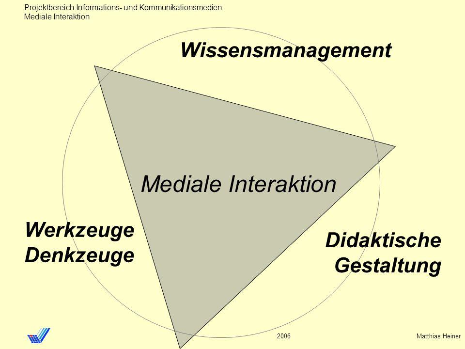 Mediale Interaktion Wissensmanagement Werkzeuge Denkzeuge