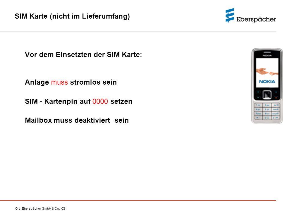 SIM Karte (nicht im Lieferumfang)