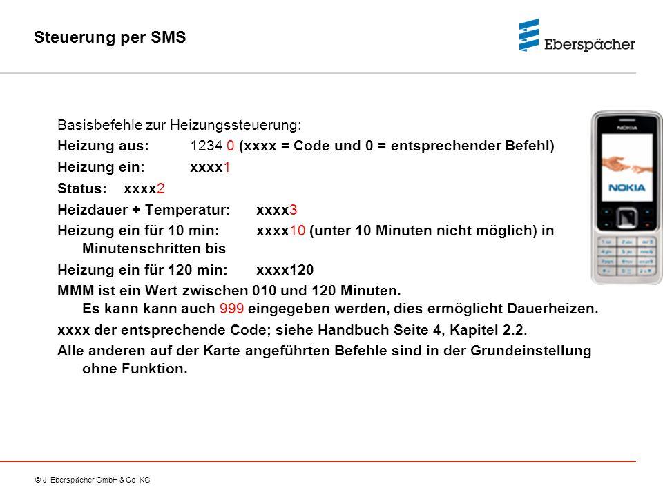 Steuerung per SMS Basisbefehle zur Heizungssteuerung: