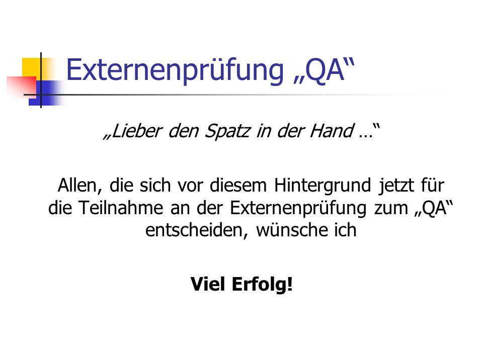 """""""Lieber den Spatz in der Hand …"""